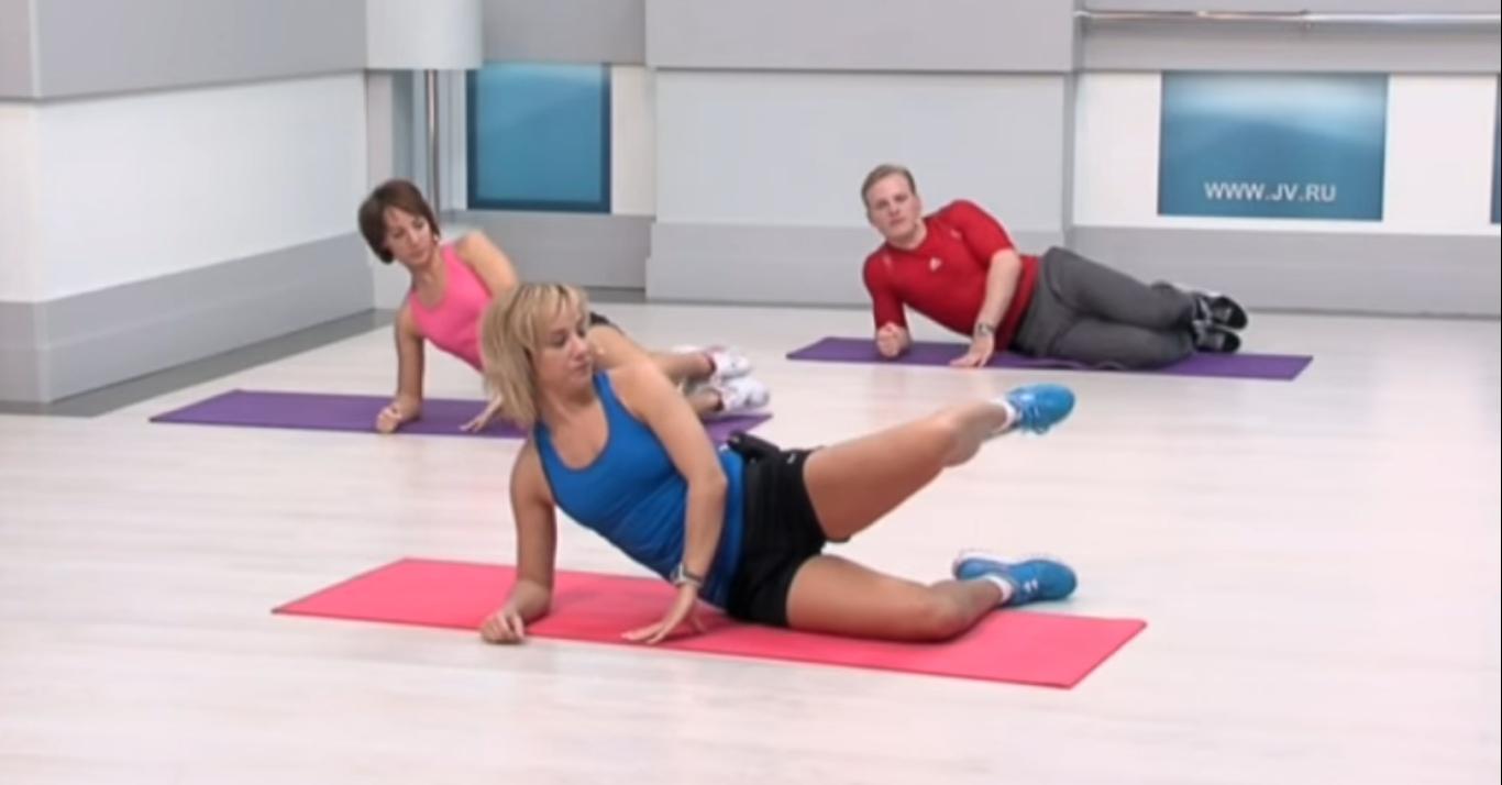 Флексислим: Подъем ноги согнутой в колене