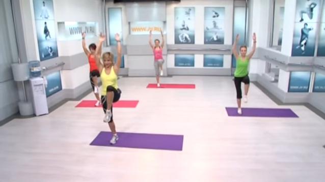 Флексислим: упражнение с поднятой ногой